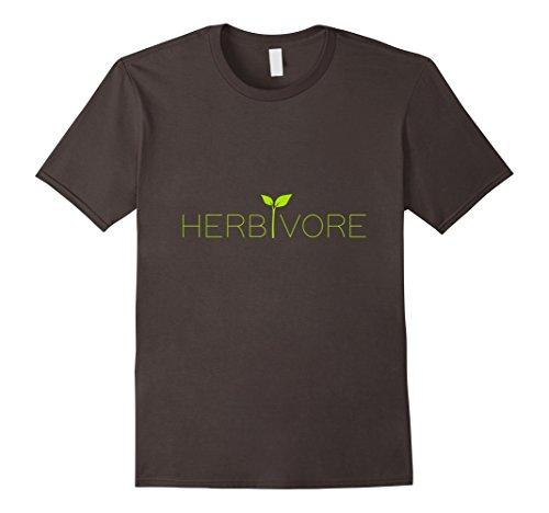 Mens Cute Vegan Herbivore Vegetarian T Shirt Animal Rights XL Asphalt