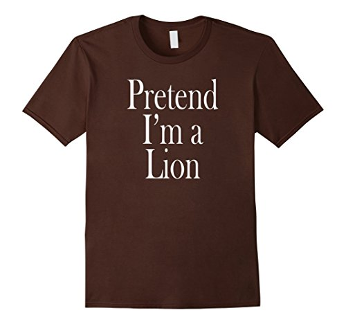 Mens I'm a Lion Costume T-Shirt for the Last Minute Party Large Brown
