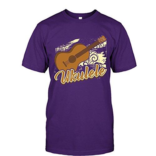 Mpt Players - Ukulele Shirt, Ukulele Player Cool T Shirts Design Unisex (M,Purple)