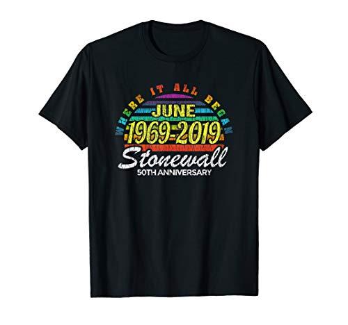 50th Anniversary Stonewall June 1969 2019 LBGTQ Gay Pride T-Shirt