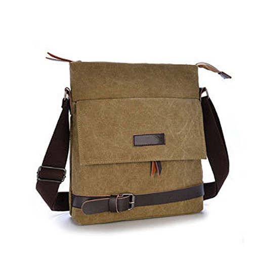 Suede Patchwork Bag (Mfeo Unisex Lightweight Canvas Outdoor Travel Small Crossbody Shoulder)