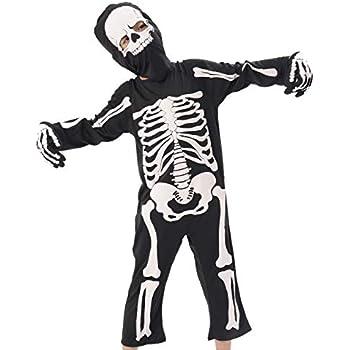 amazon com ikali kids skeleton costumes halloween scary dress up rh amazon com Dark Dress Clip Art Girl in Dress Clip Art