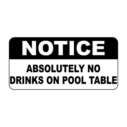 Fastasticdeals Notice Absolutely No Drinks On Pool Table Vintage Style Metal Sign - 8 X 12 -