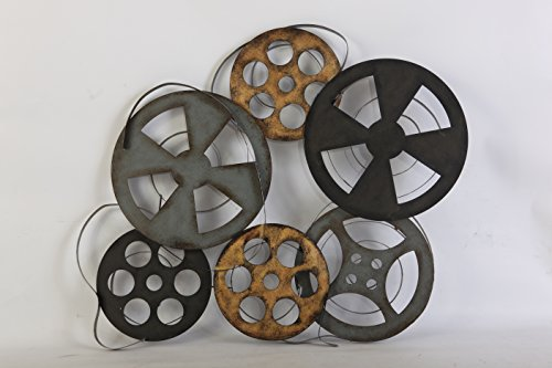 TWG 2AA1690 Metal Film Reel Hollywood Style Wall Decor by TWG