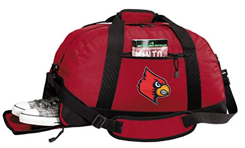 University of Louisville Duffle Bags - Louisville Cardinals Gym Bag w/ SHOE POCKETS (Duffle Louisville Bag Cardinals)