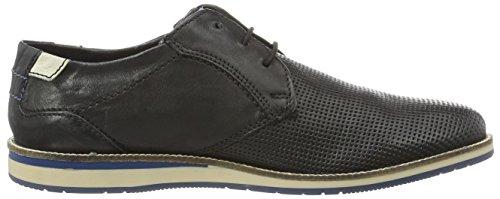 Bugatti 311256024000, Zapatos de Cordones Derby para Hombre Negro (Schwarz 1000)