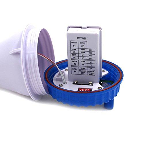 Usuny Inal/ámbrico Energ/ía Solar Flotante Piscina Term/ómetro Digital Piscina Spa Term/ómetro Flotante