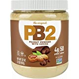 PB2 Powdered Chocolate Peanut Butter with Cocoa - 4g of Protein, 90% Less Fat, Certified Gluten Free, Only 50 Calories per Se