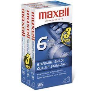 Maxell GX T-120 VIDEO TAPE-120 MIN 3PK ( 214048 )