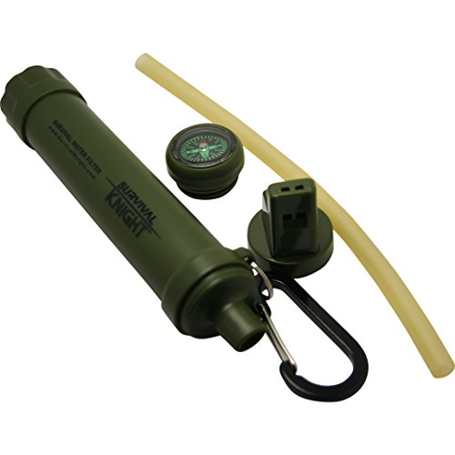 Survival Knight Camping Water Filter Straw, Water Purifier, Hiking Filtration, Backpacking, Emergency Disasters, Prepper Gear, and Bugout Bags by Survival Knight