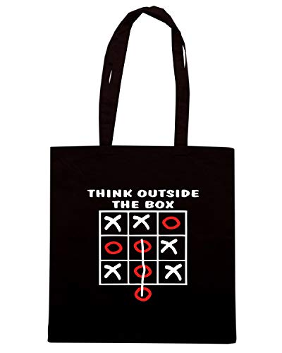 Speed Shirt Borsa Shopper Nera OLDENG00695 THINK OUTSIDE THE BOX