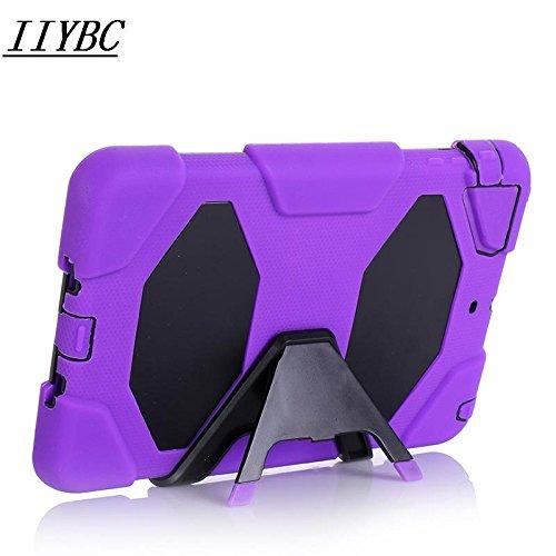 IIYBC Brand for Apple Ipad Mini 1&2&3 Defender Shockproof Survivor Military Duty Hybrid Hard Case with Soft Silicone (Purple)