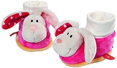 Neat-Oh My First Nici Baby Booties Rabbit with Rattle Plush