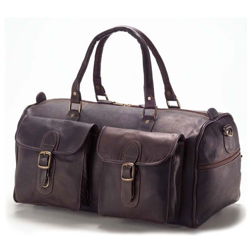 (Clava Two Pocket 19 Duffel - Vachetta Cafe)