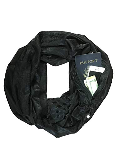 SHOLDIT - The Original Convertible Infinity Scarf with Pocket - New Collection, Vibe Black