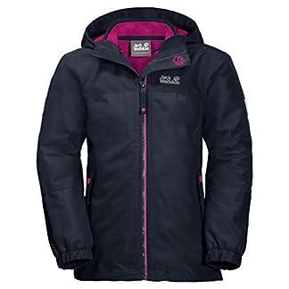 Jack Wolfskin G ICELAND 3IN1 JKT, wasser- und winddichte Outdoor Jacke, Winterjacke für Mädchen mit warmer Fleecejacke, robuste Regenjacke für Mädchen mit Reflektoren 2