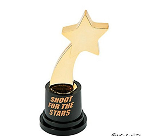 Popcandy Shoot For The Stars Trophies (Lot Of 3) Shooting Star Award Unique New (Star Award Shooting Trophy)
