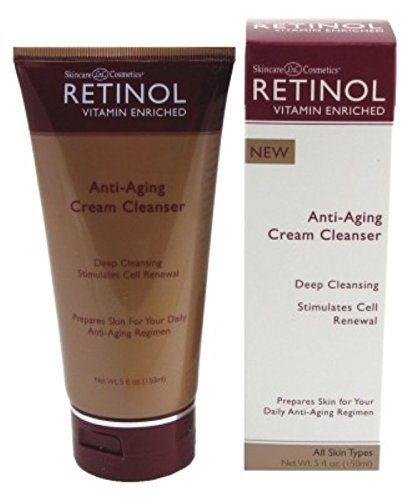 Retinol Anti-Aging Cream Cleanser  Daily Deep Cleansing Facial Wash Exfoliates to Improve Skins Texture & Moisturizes for Cleaner, Softer Face  Renewing Vitamin A Minimizes Fine Lines & Wrinkles