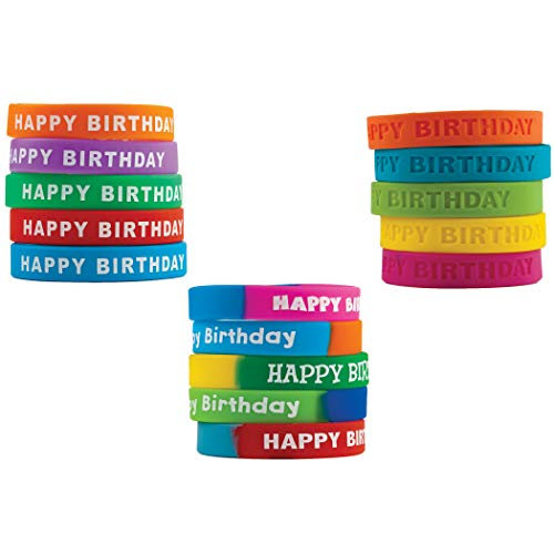 Teacher Created Resources TCR9804 Happy Birthday Wristband Classroom Super Pack (Pack of 30) (Teacher Rubber)