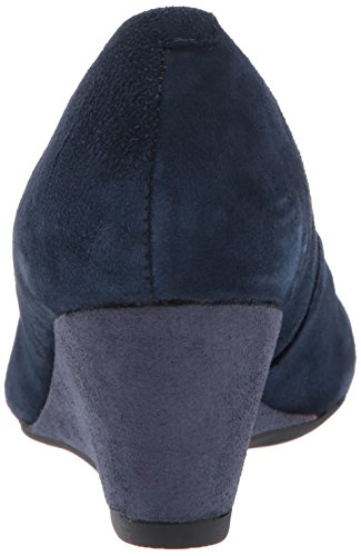 CLARKS Women's Flores Tulip Wedge Pump Navy Suede official site cheap online 2015 cheap price buy cheap many kinds of cheap manchester great sale aIfBs6lw