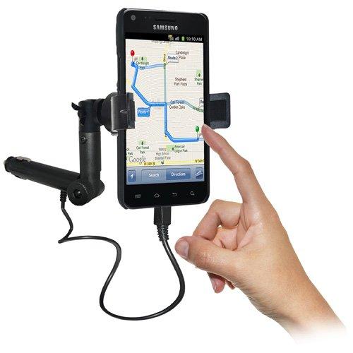 Amzer AMZ93408 Lighter Socket Phone Car Mount with Chargi...