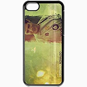 Personalized iPhone 5C Cell phone Case/Cover Skin C Ronaldo Cristiano Ronaldo Manchester United Real Madrid Football Black