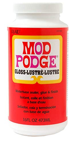 - Mod Podge Waterbase Sealer, Glue and Finish (16-Ounce), CS11202 Gloss Finish