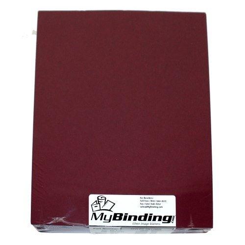 Maroon Linen 8.5'' x 11'' Letter Size Covers - 100pk MyBinding MYLC8.5X11MR Maroon by MyBinding