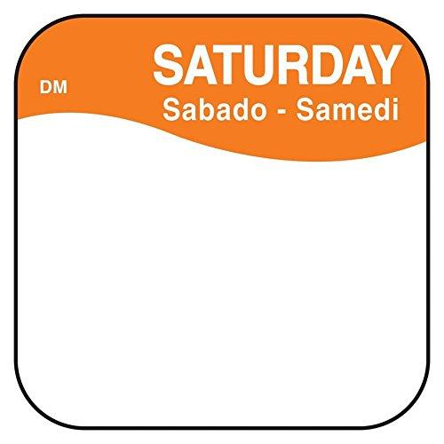 DayMark 1100376 DissolveMark .75'' Saturday Day Square - 1000 / RL by DayMark Safety Systems
