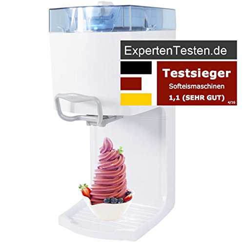 Gino Gelati IC-50W-A 4in1 Softeismaschine, Eismaschine, Frozen Yogurt-Milchshake Maschine, Flaschenkühler