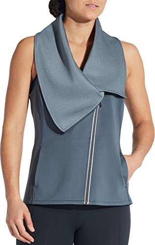 CALIA by Carrie Underwood Women's Limited Edition Lumia Full Zip Scuba Vest (XS, Graphite)