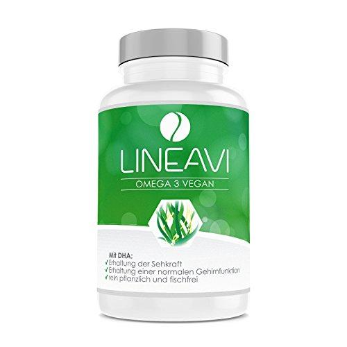 LINEAVI Omega 3 Vegan | high quality omega-3 fatty acids from algae oil |...