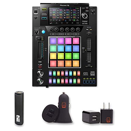 (Pioneer DJ DJS-1000 Performance DJ Sampler Bundle with PowerBank + USB Car Charger + USB Wall Charger (4 Items))