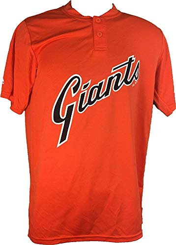 Majestic San Francisco Giants Cooperstown Collection Two Button Dri Fit Jersey T-Shirt (Small)