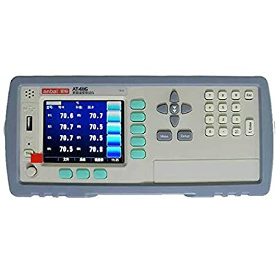 Multi-Channel Temperature Meter AT4116 Can Measure 16 Channels TFT True Color LCD Display Thermocouples -200-1300C