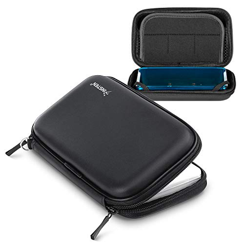 For Nintendo 3DS / NDS / DS Lite , Travel Carrying Case with Inner Storage for game cards, stylus, accessories and Hand wrist strap , Black ()