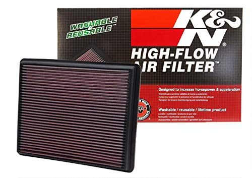 K&N engine air filter, washable and reusable: 1999-2017 Chevy/GMC Truck and SUV V6/V8 (Silverado, Suburban, Tahoe, Sierra, Yukon, Avalanche) 33-2129