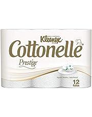 Kleenex Cottonelle Prestige, Papel Higiénico Premium, 12 Rollos de 250 Hojas
