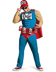 Unbranded The Simpsons Duffman Duff Man Beer Classic Muscle Mens Adult Costume (S/M)