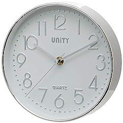 Unity Cambourne Silver Wall Clock 8-Inch