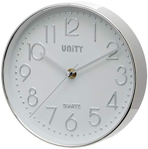 Unity Cambourne Silver Wall Clock 8-Inch
