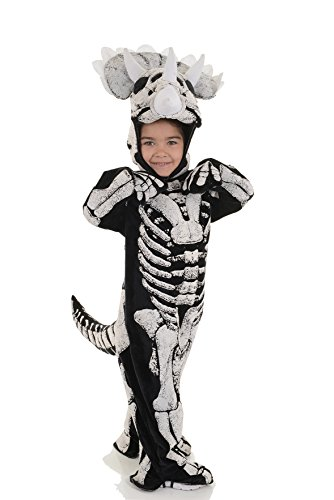 Home Made Dinosaur Costumes (Underwraps Big Boy's Underwraps Kids Fossil Dinosaur Costume, TRICERATOPS, Lg Childrens Costume, black/white, Large)