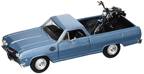 Maisto Harley-Davidson 2007 XL 1200N Nightster & 1965 Chevy El Camino Diecast Vehicle (1:24 Scale)