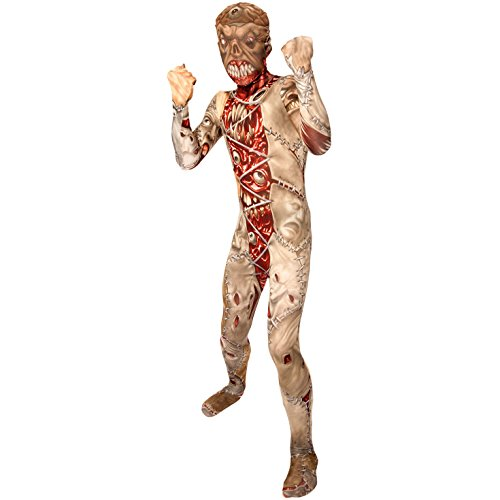 Morphsuits Kids Facelift Zombie Monster Costume - Medium 3'6-3'11/8-10 Years