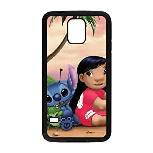 SamSung Galaxy S5 cell phone cases Black Lilo and Stitch Qutoes fashion phone cases TRD4560841