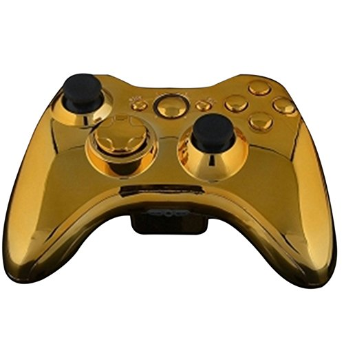 (Mod Freakz Shell/button Kit Chrome Collection Gold (NOT A CONTROLLER, For Xbox 360 Controllers))