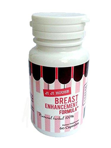 JiJi House Bust Enhancement for Women Natural Herbal 60 Capsules Breast Enlargement by JiJiHouse