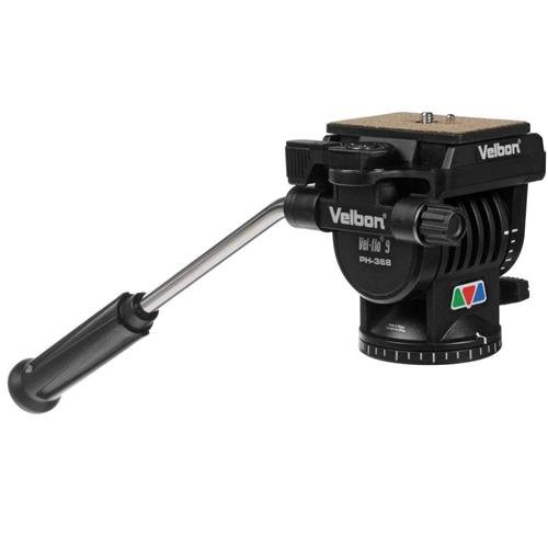 Velbon PH-368 Vel-Flo 9 Mini-Pro, 2-Way Panhead with Quick Release, Supports 10 lbs. by Velbon