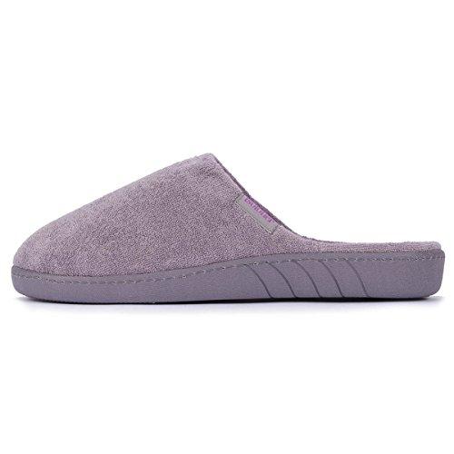 Zapatillas chinelas lisas para mujer Isotoner Gris