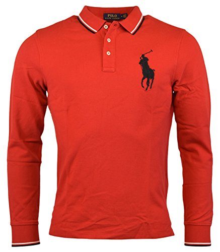 Polo Ralph Lauren Mens Big Pony Classic Fit Polo Shirt (XL, Red)